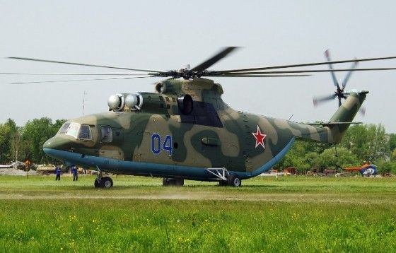 Large Russian MI-26 Helicopter