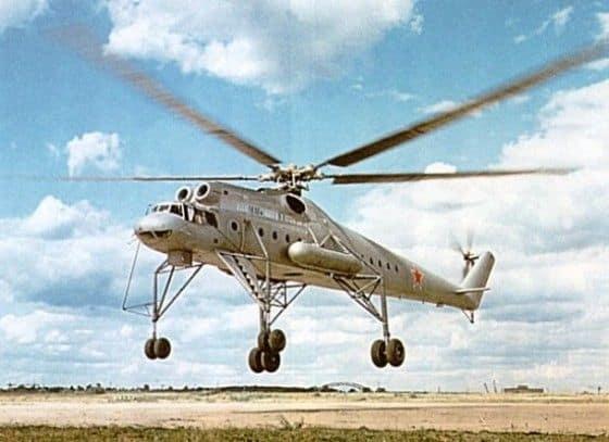 Russian MI-10 on Runway taking off