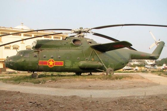 Green Russian Mil Mi-6 Helicopter