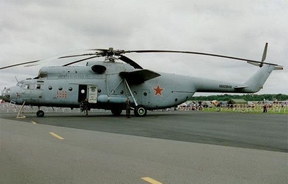 Huge Russian MI-6 Helicopter on the runway