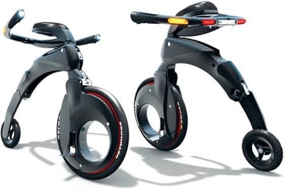 Foldable YikeBike bicycle