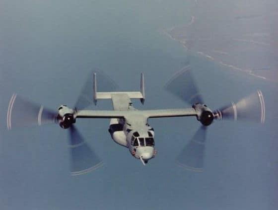 Bell-Boing V22 Osprey during a flight