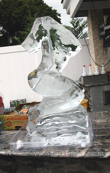 Ice Luge for alcohol in the shape of a naked woman