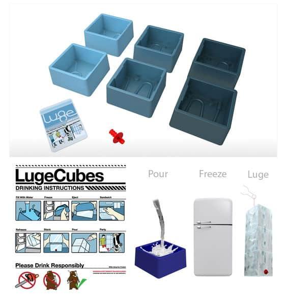 Modular ice molds to make an Ice Luge