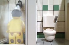 A Steamy Lego Man Shower Scene
