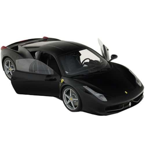 1-8-Scale-Ferrari-458-Italia-Model-Black-Open-Doors