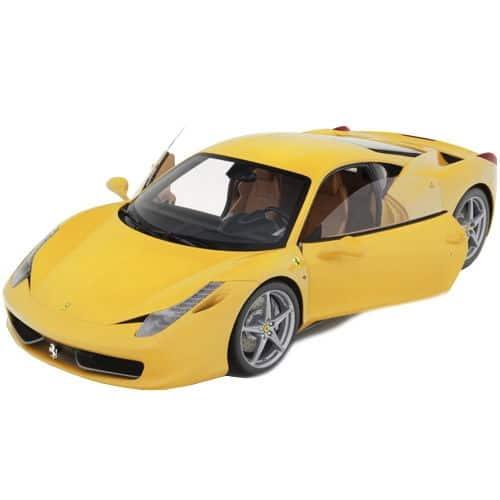 1-8-Scale-Ferrari-458-Italia-Model-Yellow-Side