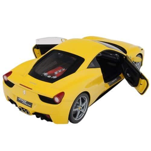 1-8-Scale-Ferrari-458-Italia-Model-Yellow-Open-Doors