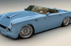 Bo-Zoland-1955-Ford-Thunderbird-Blue