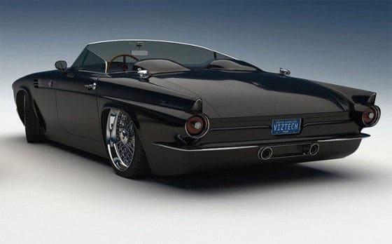 Bo-Zoland-1955-Ford-Thunderbird-black