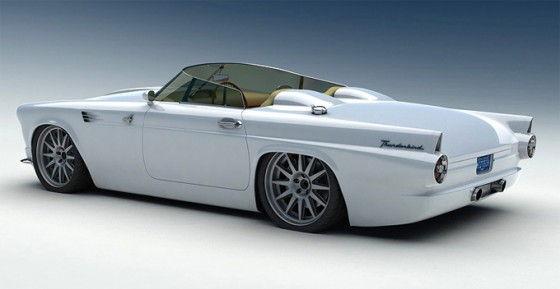 Bo-Zoland-1955-Ford-Thunderbird-White