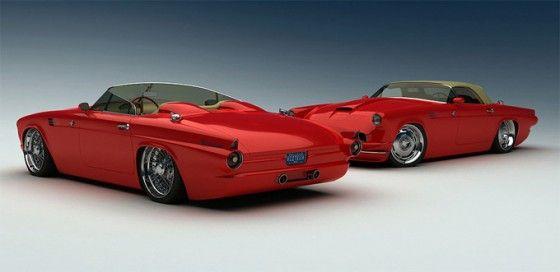 Bo-Zoland-1955-Ford-Thunderbird-Red