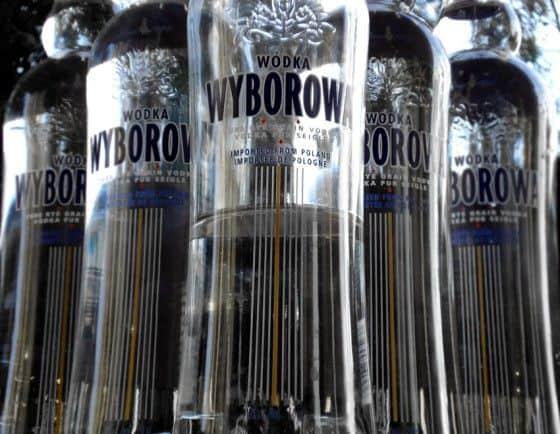 Bottles of Wyborowa Vodka for making Skittle Vodka