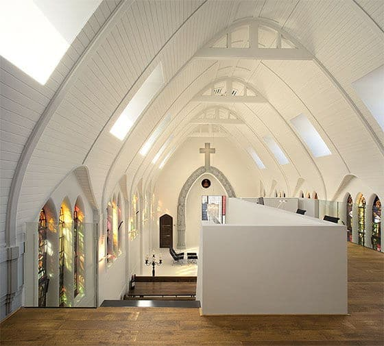 The Upstairs Of A Chapel Converted To A Residence