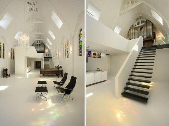Two Shots Of The Inside Of The Chapel Home