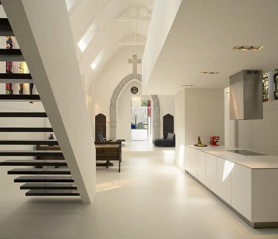 The Entry Area To A Chapel Converted To A Residence