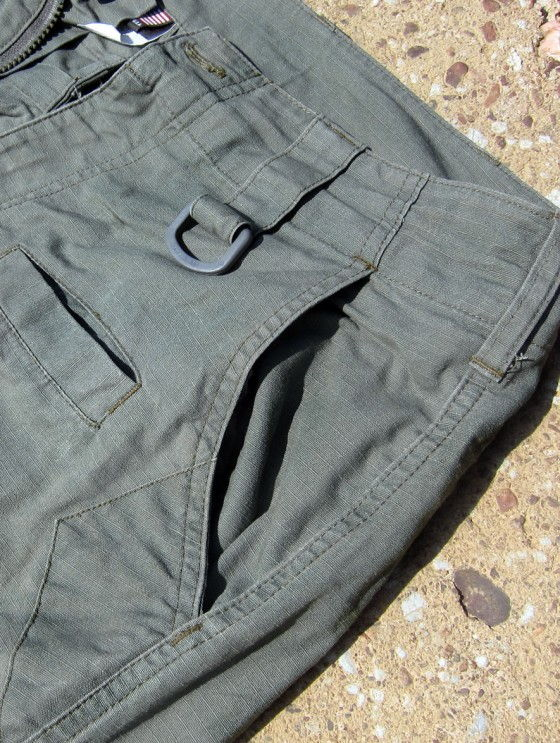 A Close Up Shot Of The Spartan Pant Front Pockets