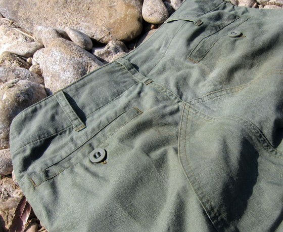 A Close Up Shot Of The Spartan Pant Rear Pockets And Gusset
