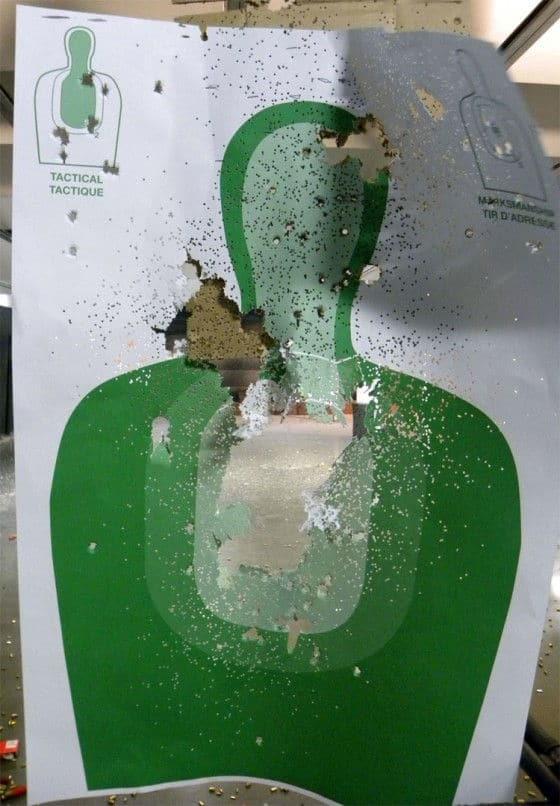 A Shot Up Human Target