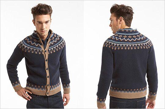Mens-Knit-Cardigan-Fall-2011-Nordic-Sweater