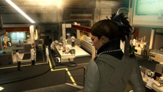 Deus Ex: Human Revolution - Megan Walking Into A Serif Lab