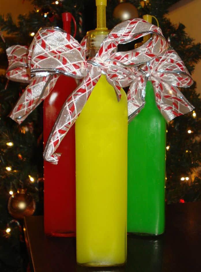 Skittle Vodka in bottles as presents