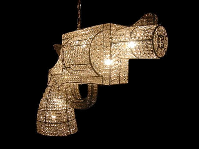 revolver custom made chandelier by rock and royal