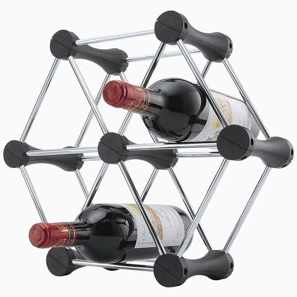 modular triangle re-configurable bottle rack