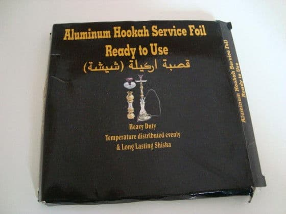 foil used for smoking shisha