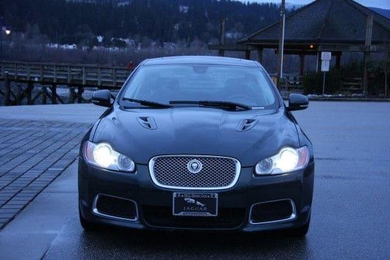 Jaguar-XFR-Front-Lights-On