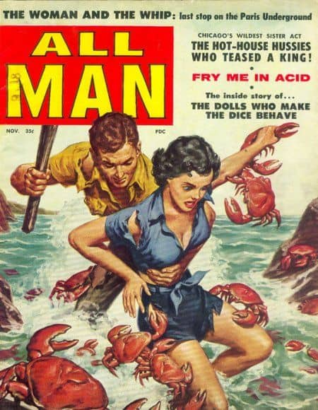 all man crabs attack man and woman