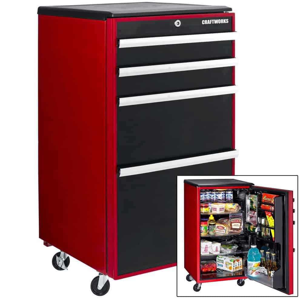 mini fridge that looks like a Snap-on Toolbox