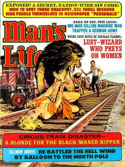 man's life lion attacks woman on train tracks
