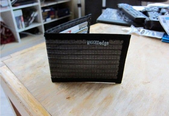 Odd Shot Of The Ragged Edge Carbon Fiber Wallet