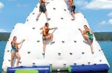Inflatable rock climbing moutain for water