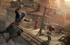 Ezio Jumping To Stab Someone In Assassins Creed Revelations