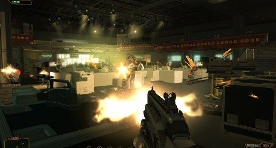 Deus Ex Human Revolution Assault Rifle PC Screen