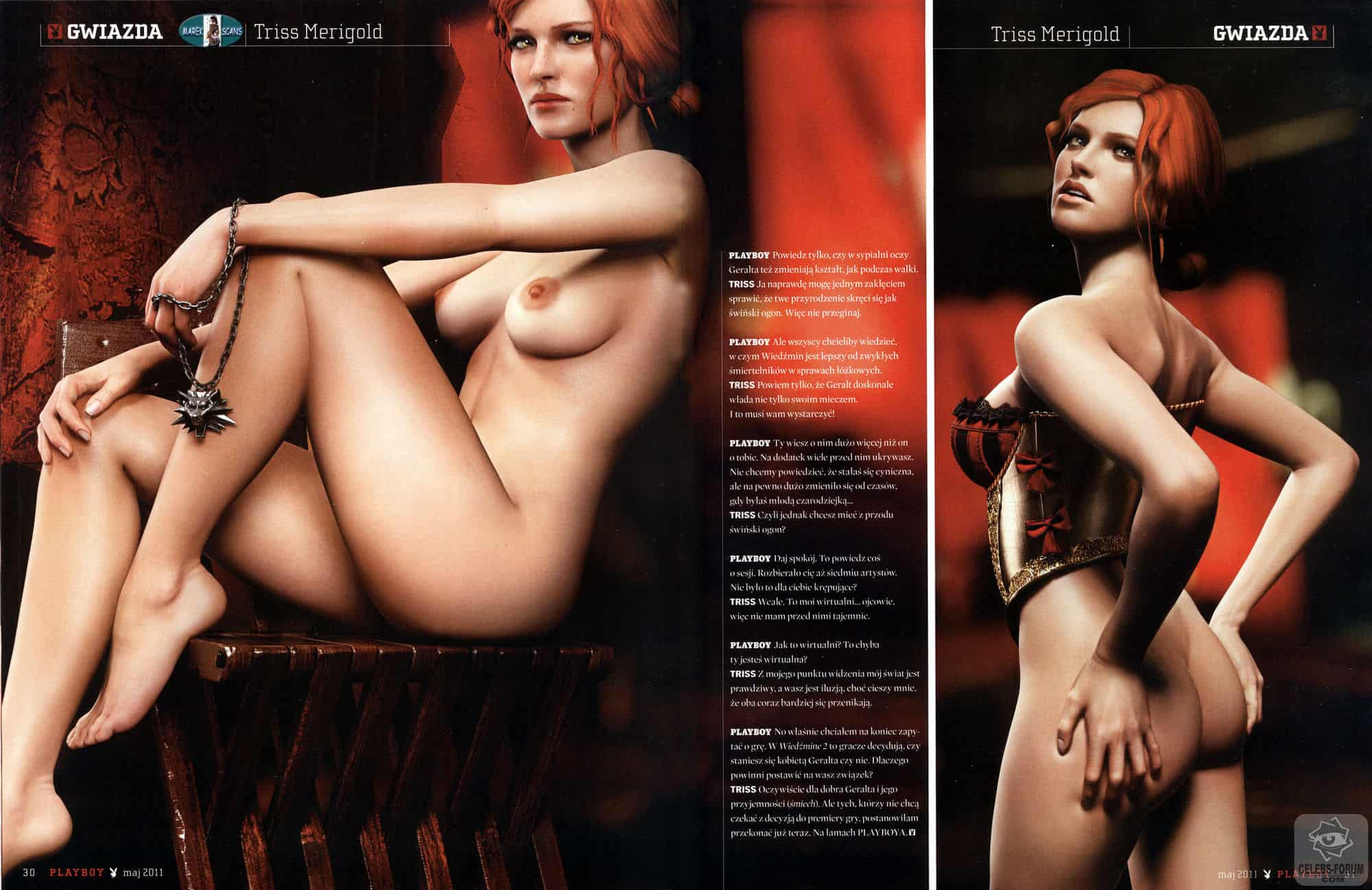 Triss Merigold Bum Shot Polish Playboy