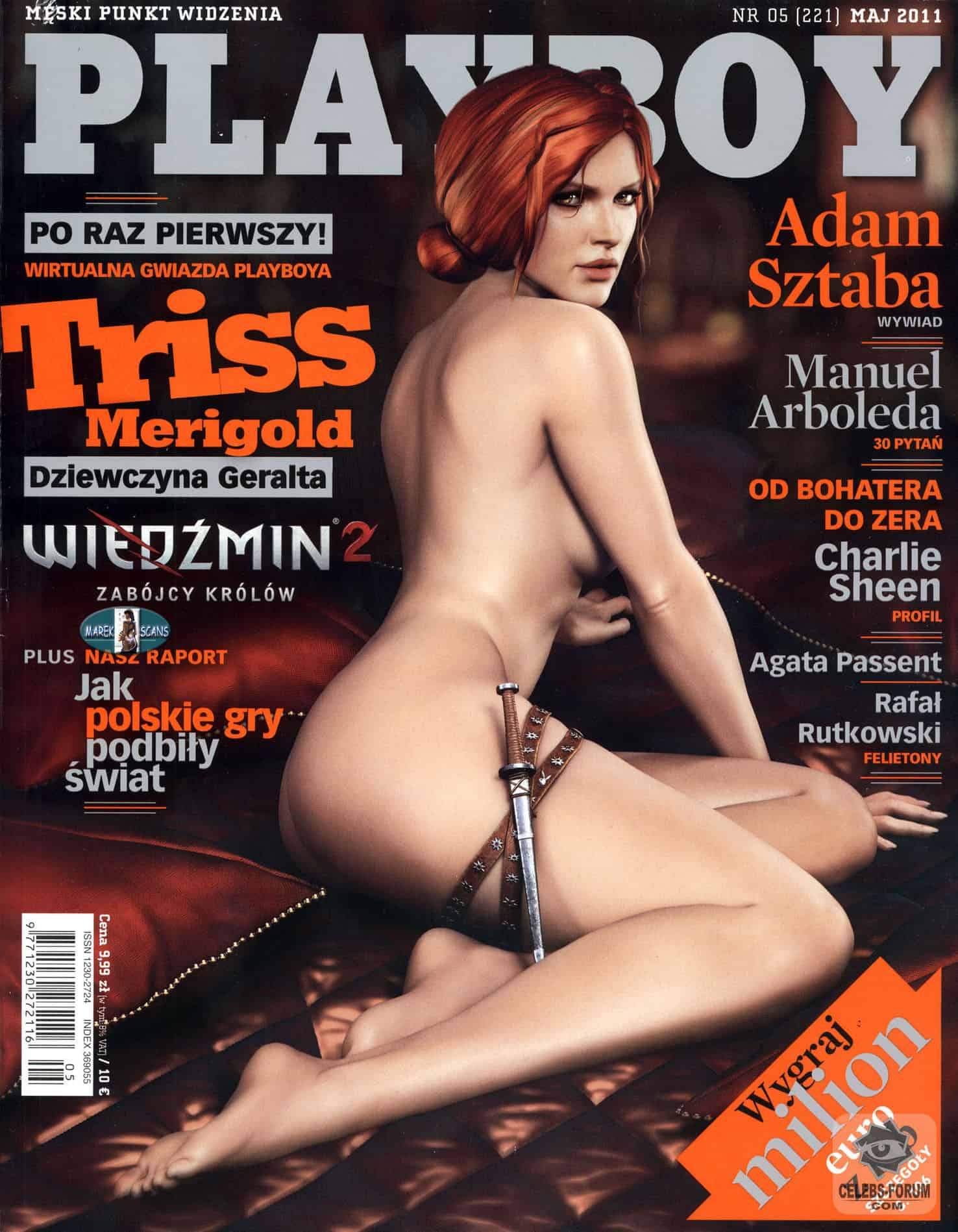 Triss Merigold Nude Cover From Polish Playboy