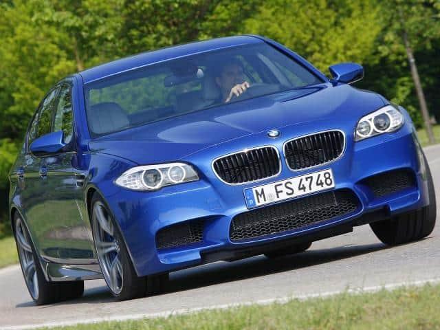 2012-BMW-M5-F10-Front-Three-Quarters