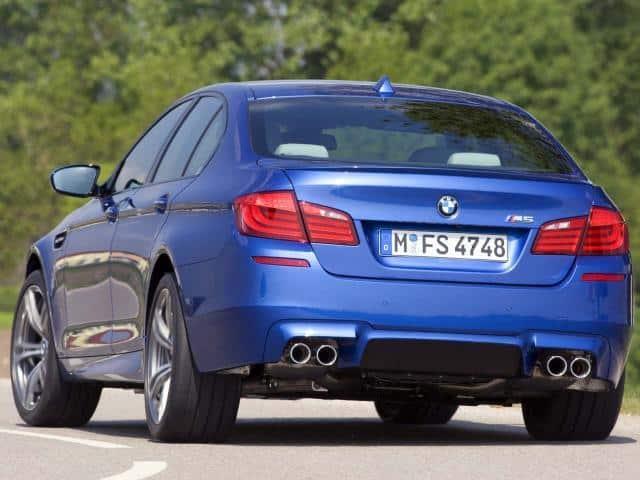 2012-BMW-M5-F10-Rear-Three-Quarters
