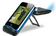 """iPhone projector capable of 70"""" inch image"""