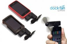 Dock fan for iPhone iTouch and iPod