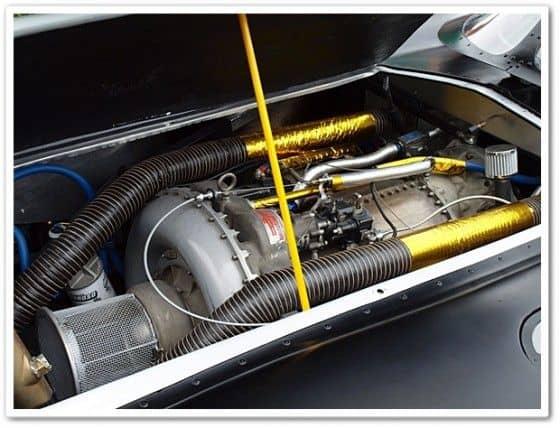 Jet Engine in a Batmobile replica car