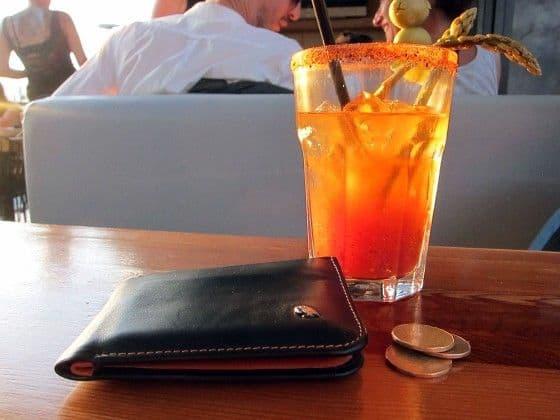 Bellroy Hide & Seek wallet with coins