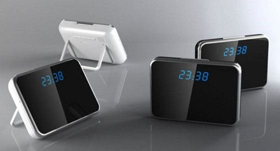 Hidden Alarm clock camera with night vision and motion detection sensors