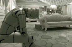 A droid in the Deus Ex: Human Revolution Adam's Quest Trailer