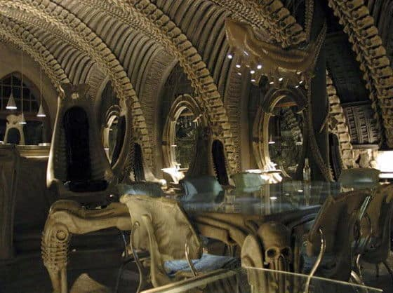 The bar at Museum H.R. Giger in St. Germain Switzerland