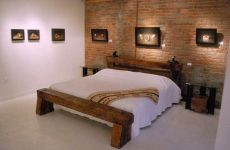 rail yard studios bed made from rail ties and rail spikes
