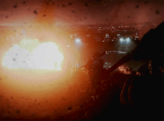 a mortar exploding in battlefield 3